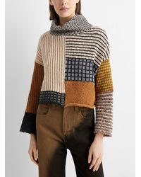 Eckhaus Latta Patchwork Knit Sweater - Multicolour