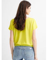 Benetton Elastic Waist Cap - Yellow