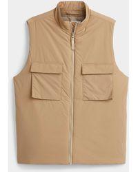 SELECTED Sleeveless Modern Vest - Brown