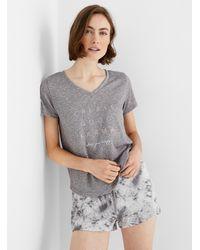 Danskin Precious Message Pyjama Set - Grey