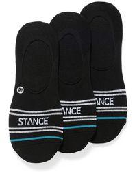 Stance Contrast Logo Ped Socks 3 - Black
