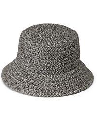 Nine West Braided Straw Cloche Hat - Black