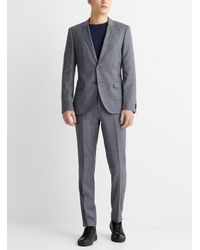 HUGO Micro Pattern Arti Hesten Suit - Gray