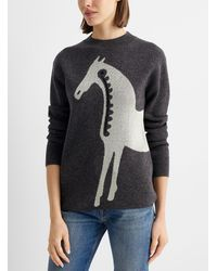 Marimekko Jacquard Musta Tamma Sweater - Multicolor