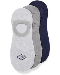 Sperry Top-Sider Recycled Polyester Solid Ped Socks 3 - Gray