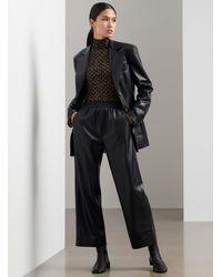Nanushka Odessa Vegan Leather Pants - Black