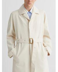 Marni Ivory Denim Trench Coat - White