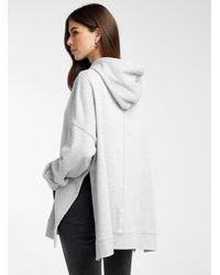 Icône Oversized Organic Cotton Hoodie - Grey