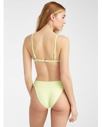 Billabong Contrasting Waistband Ribbed Slim Bikini - Green