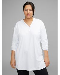 Columbia Chill River Hooded Tunic Plus Size - White