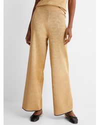 Lanvin Perforated Gold Knit Wide - Natural
