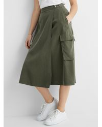 HUGO Cargo Wrap Midi Skirt - Green