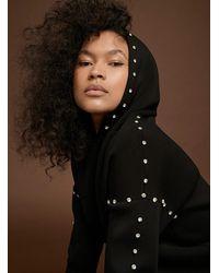Icône Mini Crystal Neoprene Sweatshirt - Black