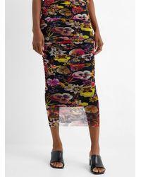 Fuzzi Nighttime Garden Tulle Skirt - Black