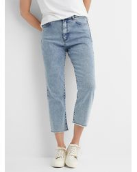 HUGO Gayang Straight Cropped Jean - Blue