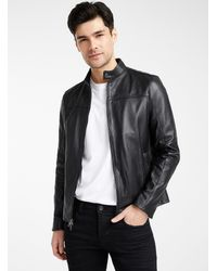 Michael Kors Biker Leather Jacket - Black