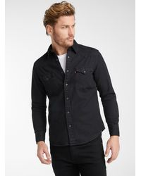 Levi's Dark Denim Western Shirt Modern Fit - Black
