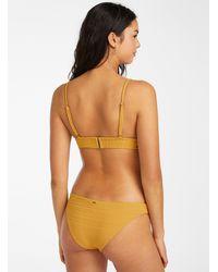 Rip Curl Honey Stripe Bikini Bottom - Yellow