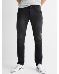 Only & Sons Faded Black Loom Knit Jean Slim Fit