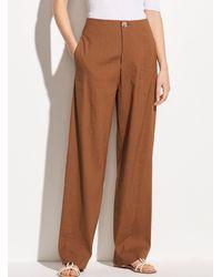 Vince Caramel Stretch Linen sweatpants - Brown