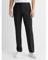 HUGO Vertical Stripe Fit Pant - Black