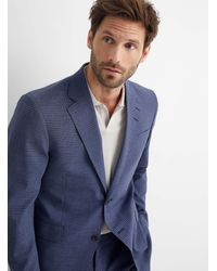 Tiger Of Sweden Pixelated Check Gramott Suit Slim Fit - Blue