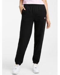Champion Mini Logo Boyfriend sweatpants - Black