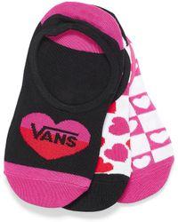 Vans Crazy Love Foot Liners Set Of 3 - Black