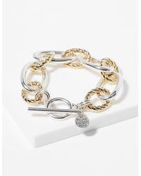 Philippe Audibert Two-tone Link Bracelet (women, Yellow, One Size) - Metallic