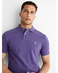 Polo Ralph Lauren Iconic Solid Piqué Polo - Purple