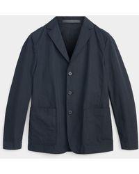 Theory Clinton Gabardine Straight Jacket - Blue