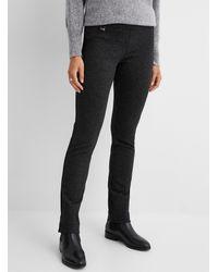 Lisette L Micropattern Slimming Pants - Black