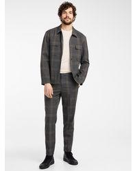 SELECTED Check Overshirt Jacket - Gray