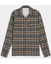 Officine Generale Jonas Cotton Flannel Plaid Shirt - Multicolour