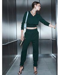 Icône Ankle Strap sweatpants - Black