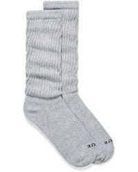 Hue Slouchy Cotton Socks - Gray