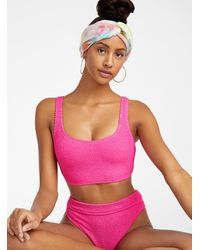 Billabong Ultra Textured Cropped Cami Bralette - Pink
