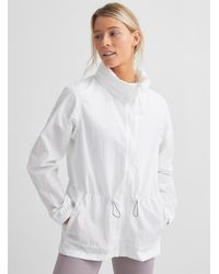 Columbia Wild Willow Summer Windbreaker Adaptable Relaxed Fit - White