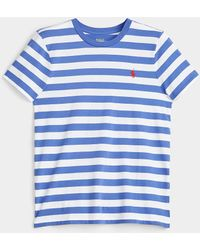 Polo Ralph Lauren Logo Embroidery Striped T - Blue