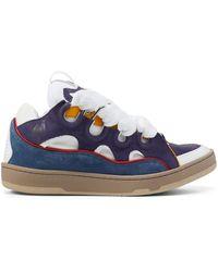 Lanvin Curb Colour Block Sneakers Men - Blue