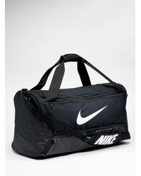 Nike Brasilia Textured Duffle Bag - Black