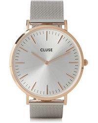 Cluse La Bohème Rose Gold And Silver Watch - Metallic
