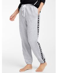 DKNY Signature Side Stripe sweatpants - Gray
