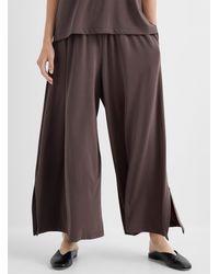 Issey Miyake Fluid Draped Jersey Pant - Grey