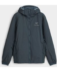 Arc'teryx Atom Lt Hooded Jacket Fitted Style - Blue