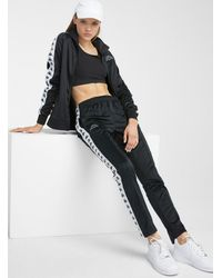 Kappa Black And White Astoria Track Pant