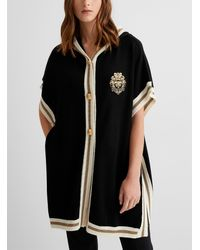 Boutique Moschino Golden Coat - Black