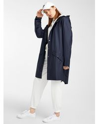 Rains Long Urban Raincoat - Blue