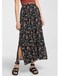 Vero Moda Long Floral Skirt - Brown