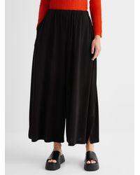 Issey Miyake Fluid Draped Jersey Pant - Black